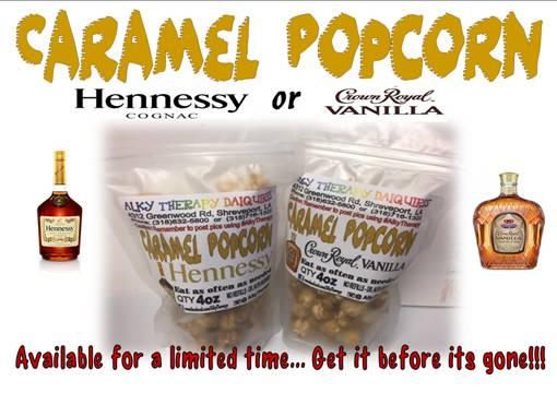 Hennessy or Crown Royal Vanilla Caramel